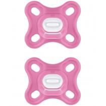 MAM Comfort Silikonnuggi ab 0 Monate 2 Stück Pink Schnuller