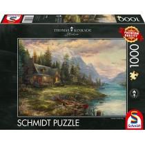 Schmidt Spiele Puzzle Thomas Kinkade Ausflug am Vatertag 1000 Teile