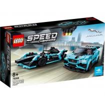 LEGO Speed Champions Formula E Panasonic Jaguar Racing GEN2 car & Jaguar I-PACE eTROPHY 76898