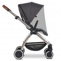 ABC Design Universal Moskitonetz für Kinderwagen & Buggy Black