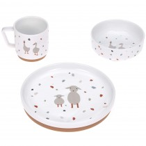 Lässig Kindergeschirr Set Porzellan Tiny Farmer Gans & Schaf