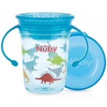 Nuby Trinktasse 360° Wonder Cup aus Tritan Dino Blau