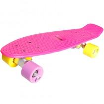 New Sports Retro Skateboard pink gelb und lila ABEC 7