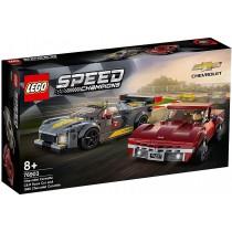 LEGO Speed Champions Chevrolet Corvette C8.R & 1968 Chevrolet Corvette 76903