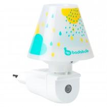 Badabulle LED-Nachtlicht mit Schirm Blau Wandnachtlicht