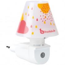 Badabulle LED-Nachtlicht mit Schirm Pink Wandnachtlicht