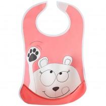 Badabulle Lätzchen Waschbär Pink