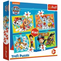 Paw Patrol 4 in 1 Puzzle