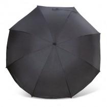 Heitmann Eisbärchen Sonnenschirm mit Fiberglas-Speichen und UV-Schutz Schwarz
