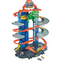 Mattel Hot Wheels Megacity Parkgarage mit T-Rex-Angriff