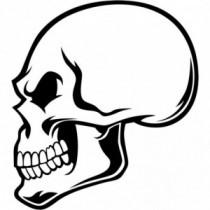 Aufkleber Skull Side