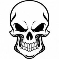 Aufkleber Skull Front