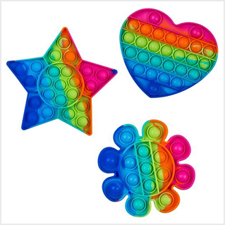 Fidget Pop Toy Push it Rainbow